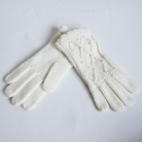 white cable gloves