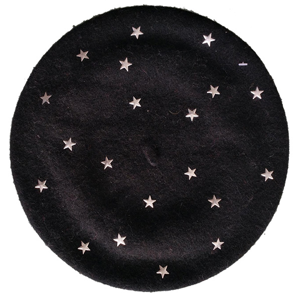 wool beret with star